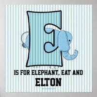 Blue Elephant Monogrammed