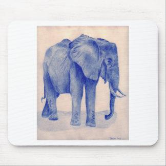 Blue Elephant Mouse Pad