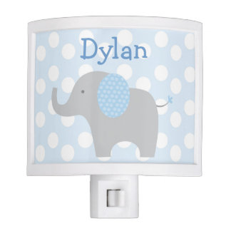 Blue Elephant Night Light