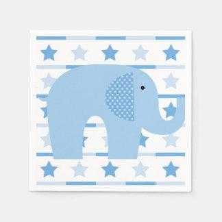 Blue Elephant Paper Napkins