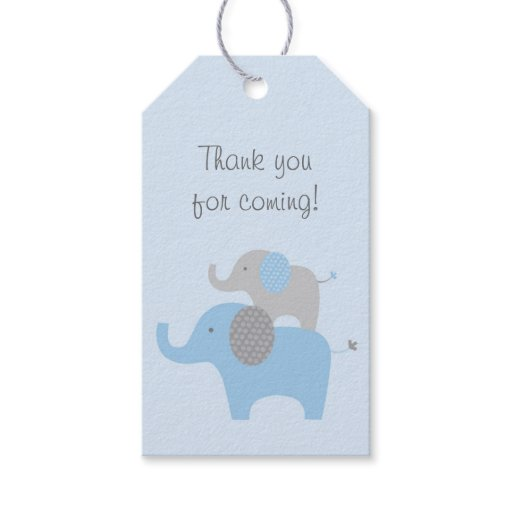 Blue Elephant Party Favor Tags
