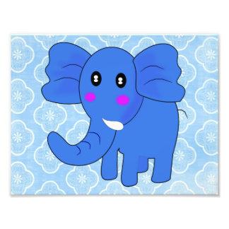 Blue Elephant Photo Print