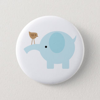 Blue Elephant Pinback Button