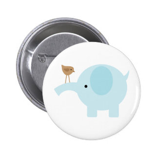 Blue Elephant Pinback Button