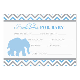 Blue Elephant Predictions Card Large Business Card