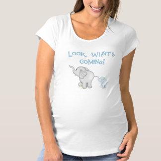 Blue Elephant Pregnancy Shirt