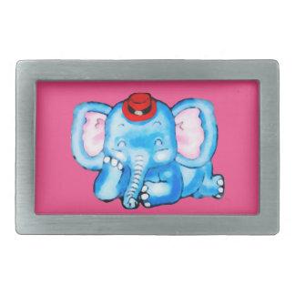 Blue Elephant Red Hat Cartoon Belt Buckles