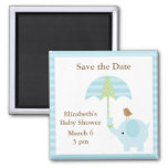 Blue Elephant Save the Date Magnets Fridge Magnets