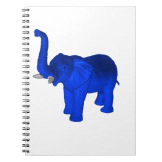 Blue Elephant Spiral Notebook