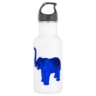 Blue Elephant Stainless Steel Water Bottle