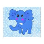 Blue Elephant Stretched Canvas Prints