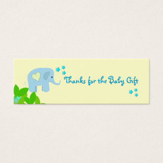 Blue Elephant Thank You Mini Business Card
