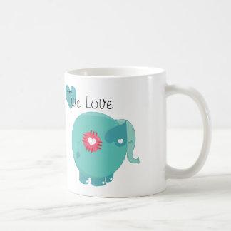 Blue Elephant True Love Custom Mug