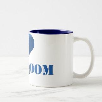 Blue Elephant Two-Tone Coffee Mug