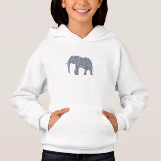 Blue Elephant with Gold Stars Hoodie