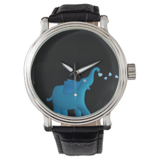 blue elephant wrist watches