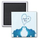 blue elephants fridge magnet