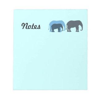 Blue Elephants Notepad