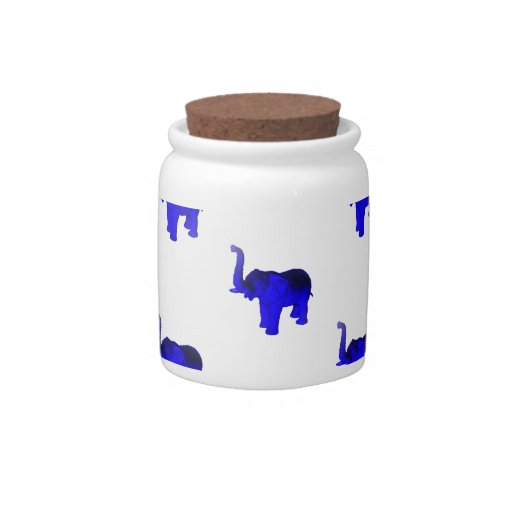 Blue Elephants Pattern Candy Dishes