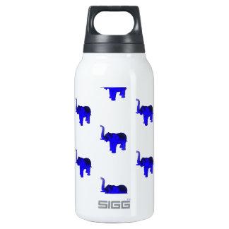 Blue Elephants Pattern Insulated Water Bottle