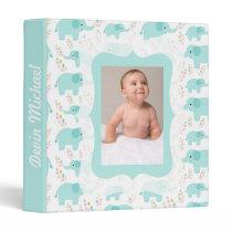 Blue Elephants Photo Ready Baby Album Binder