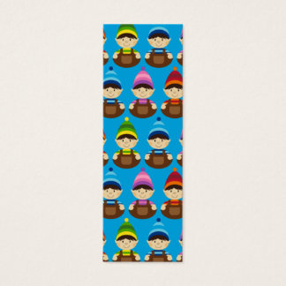 Blue Elf Repeat Bookmark Mini Business Card
