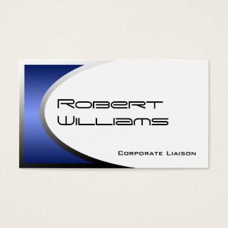 Blue Ellipse Modern Professional Business Card