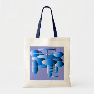 Blue Ellipses Modern Art Tote Bags