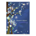 "Blue Elven Forest Whimsical Wedding Invitations 5"" X 7"" Invitation Card"