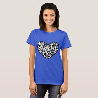 Blue Embellishment Heart Shirt