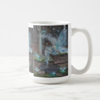 Blue Ember Fairy Fantasy Art Mug by Molly Harrison