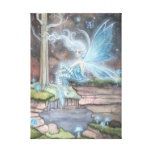 Blue Ember Fantasy Fairy Art Wrapped Canvas Canvas Print