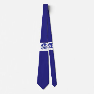 Blue emblem MSU Physics Department Tie