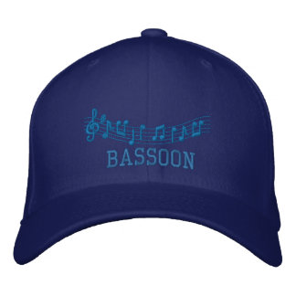 Blue Embroidered Bassoon Cap