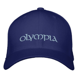 Blue Embroidered Olympia Cap Embroidered Hats