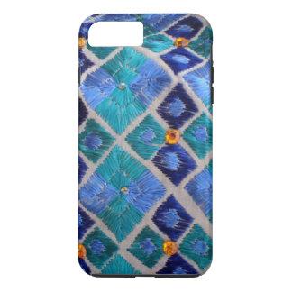 Blue embroidered Phulkari unique iphone case