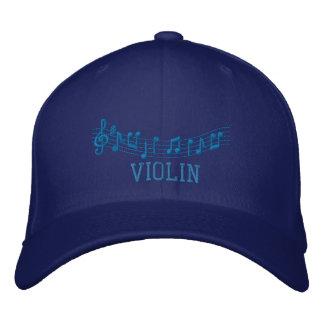 Blue Embroidered Violin Cap