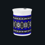 """Blue Embroidery Beverage Pitcher<br><div class=""""desc"""">Blue Embroidery</div>"""