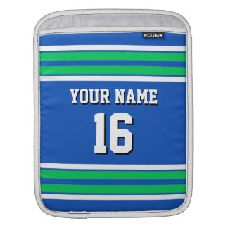 Blue Emerald Green Team Jersey Custom Number Name Sleeve For iPads