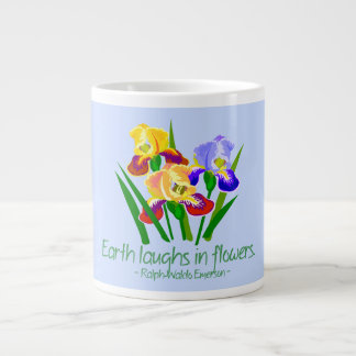 Blue Emerson Quote Jumbo Mug