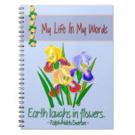 Blue Emerson Quote Notebook