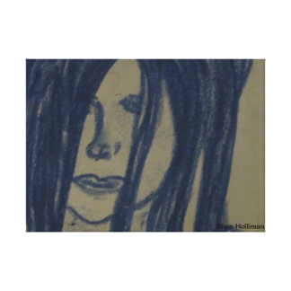 Blue Emo Girl Gallery Wrapped Canvas