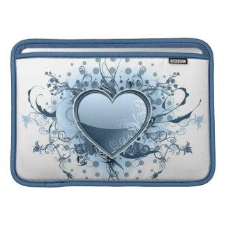"Blue Emo Heart 11"" MacBook Sleeve"