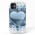 Blue Emo Heart iPhone 11 Case