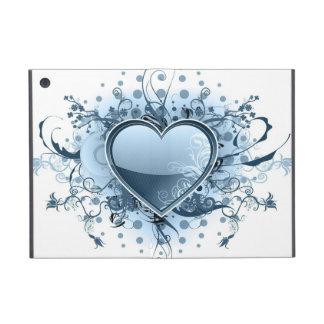 Blue Emo Heart Cases For iPad Mini