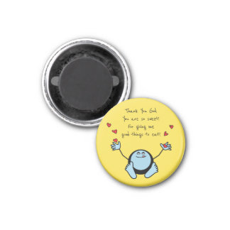 Blue Emoji Children's Meal Prayer Magnet