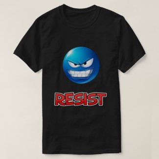 blue emoji, resist T-Shirt