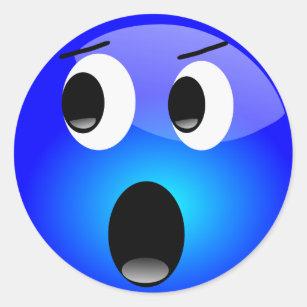blue emoji stickers zazzle
