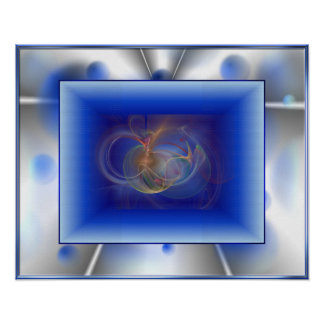 Blue Emotion Artwork Poster
