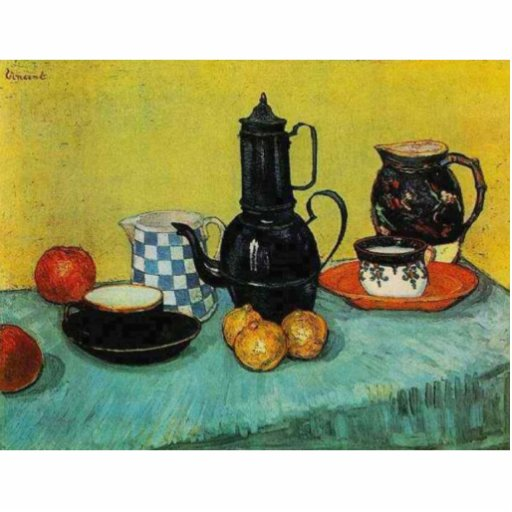 Blue Enamel Coffee Pot by Vincent van Gogh Photo Cutouts